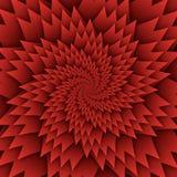 Abstract het patroon rood van stermandala decoratief vierkant beeld als achtergrond, het beeldpatroon van de illusiekunst, achter vector illustratie