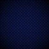Abstract het patroonontwerp van luxe blauw geometrisch vierkanten met gouden punten op donkere achtergrond stock illustratie