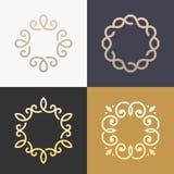 Abstract het pictogram vectorontwerp van het monogram elegant embleem Royalty-vrije Stock Afbeeldingen