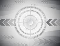 Abstract het schieten digitaal de technologieconcept van het waaierdoel royalty-vrije illustratie