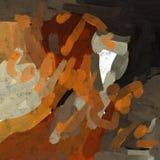 Abstract het schilderen art. Drinkende brandewijn Royalty-vrije Stock Afbeelding