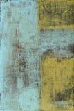 Abstract het Schilderen Blauw en Geel royalty-vrije illustratie