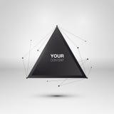 Abstract het vakje van de driehoekstekst ontwerp stock illustratie