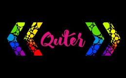 Abstract het vakje van de regenboogtekst ontwerp met kleurrijke steun en uw tekst Royalty-vrije Stock Foto