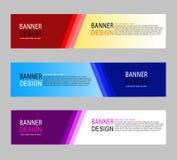 Abstract het Webmalplaatje van de geometrisch ontwerpbanner royalty-vrije illustratie