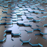 Abstract hex grid background Stock Photo