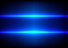 Abstract hex light blue effect blue technology Stock Photography