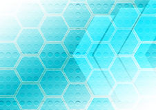 Abstract hexagon with arrow and dot pattern background Stock Image