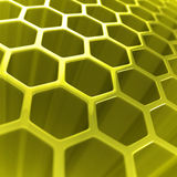 Abstract hexagon background. 3d illustration Royalty Free Stock Photos
