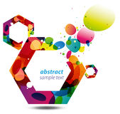Abstract Hexagon Background royalty free illustration