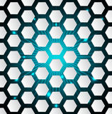 Abstract hexagon background with 3d and bursting effect Stock Images