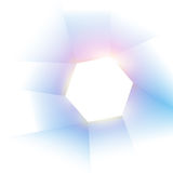 Abstract hexagon background with lighting Stock Photography