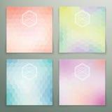 Pastel modern hexagon background set Stock Image