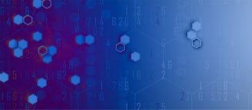 Abstract hexagon background. Technology polygonal design. Digita Stock Image