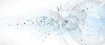Abstract hexagon background. Technology poligonal design. Digital futuristic minimalism vector illustration