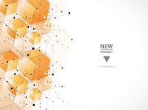 Abstract hexagon background. Technology polygonal design. Digita Royalty Free Stock Image