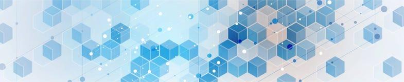 Abstract hexagon background. Technology polygonal design. Digital futuristic minimalism vector illustration