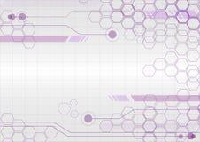 Abstract hexagon background. Technology polygonal design. Digita royalty free illustration