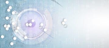 Abstract hexagon background. Technology polygonal design. Digita Royalty Free Stock Photos