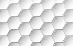 Abstract hexagon background. Technology polygonal design. vector illustration Stock Image