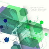 Abstract hexagon background technology. Vector illustration for your ideas.  stock illustration