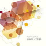 Abstract hexagon background technology. Vector illustration for your ideas.  royalty free illustration