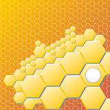 Abstract hexagon background. Vector illustration, contains transparencies, gradients and effects. Stock Photos