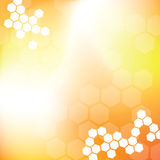 Abstract Hexagon Background. Yellow and orange hexagon background Royalty Free Stock Photos