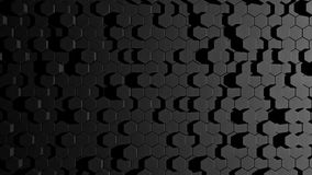 Abstract hexagon. Black and white Stock Photography