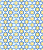 Abstract hexagon bloemenornament Stock Afbeeldingen