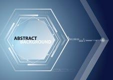 Abstract hexagon blue background. Stock Photos