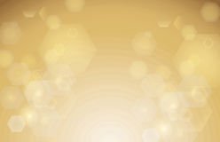 Abstract hexagon bokeh background Stock Images