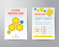 Abstract hexagon brochure flyer design layout template in A4 siz Royalty Free Stock Photos