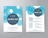 Abstract hexagon brochure flyer design layout template in A4 siz Stock Images