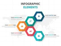 Abstract hexagon business Infographics elements, presentation template flat design vector illustration for web design marketing. Advertising vector illustration