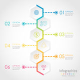 Abstract hexagon business Infographics elements vector illustration