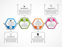 Abstract hexagon business options infographics. Vector illustration Stock Image