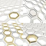 Abstract hexagon cell background Stock Photos