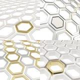 Abstract hexagon cell background Stock Photos