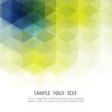 Abstract Hexagon Colorful Background. Transparent hexagons of different colors on a white background Stock Photo