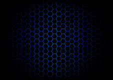 Abstract hexagon dark blue background Stock Images