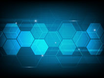 Abstract Hexagon digital technology background, futuristic struc Stock Photos