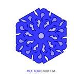 Abstract hexagon embleem Stock Fotografie