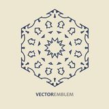 Abstract hexagon embleem Royalty-vrije Stock Foto's
