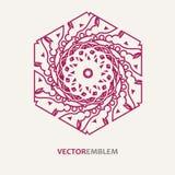 Abstract hexagon embleem Royalty-vrije Stock Afbeeldingen