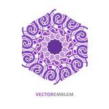 Abstract hexagon embleem Royalty-vrije Stock Foto