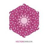 Abstract hexagon embleem Stock Foto
