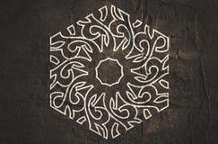 Abstract hexagon embleem Royalty-vrije Stock Fotografie