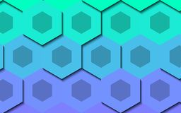 Abstract hexagon generated background wallpaper Royalty Free Stock Photography