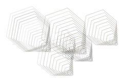 Abstract hexagon geometrisch patroon, kleurrijk & artistiek voor grafisch ontwerp, catalogus, textiel of textuurdruk & achtergron vector illustratie